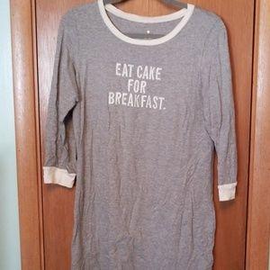 Kare Spade Eat Cake For Breakfast Nightshirt M